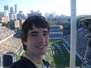 Me (Blake Adams) at the Georgia Tech vs. Virginia Game 2008